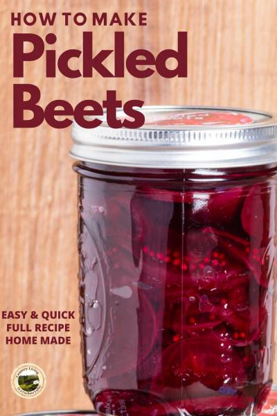 Pickled Beets in a mason jar