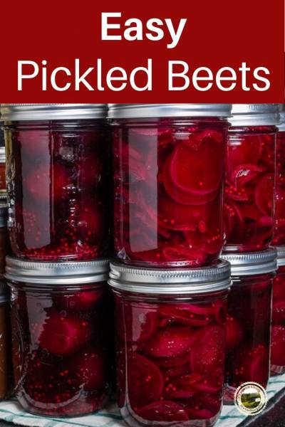 a batch of pickled beets