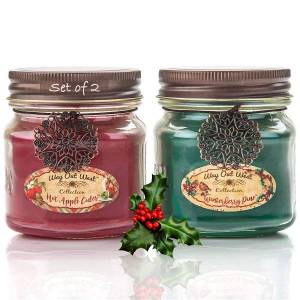 A two pack of scented candles