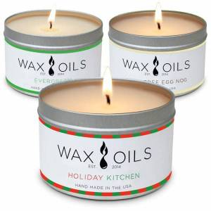 Set of 3 oil Scented Candles for a Holiday Gift