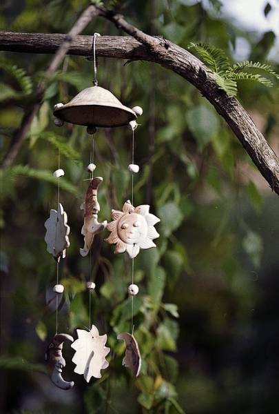 Wind chimes are a pretty addition to your winter garden.
