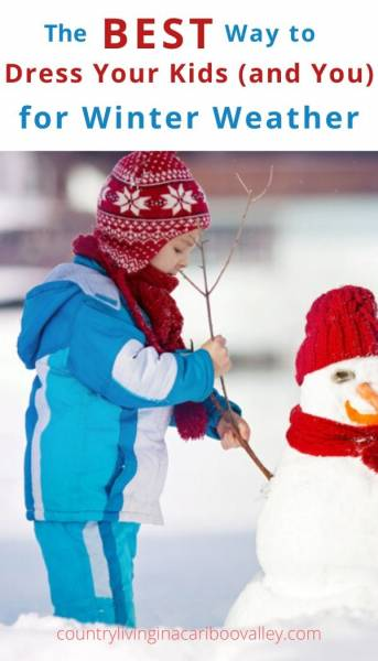 a warmly dressed child making a snowman