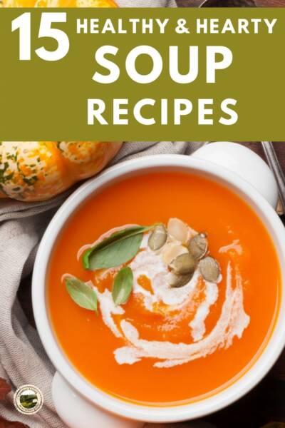 Healthy bowl of pumpkin soup