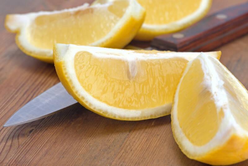 quartered lemons for freezing