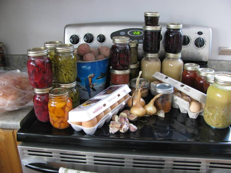 Preserving recipes include home canned food.
