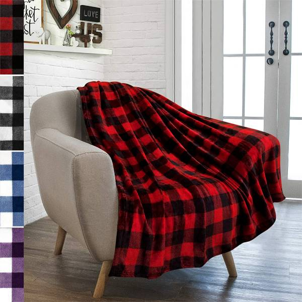 Buffalo Plaid Throw Blanket for the Porch Swing