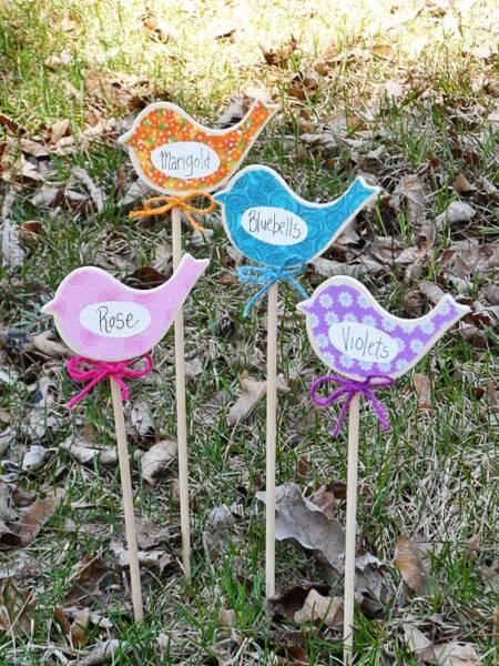 Birdy Flower Markers