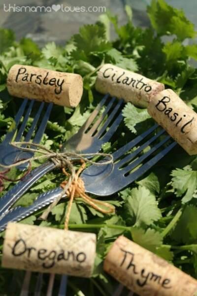 Cork Herb Garden Markers