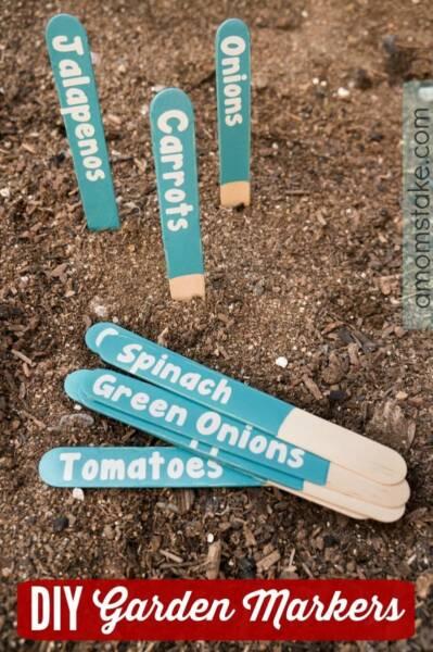 Easy Cricut DIY Garden Markers