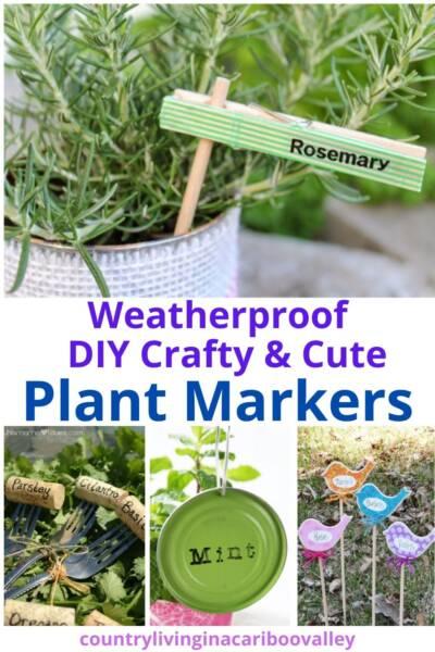 DIY weatherproof garden plant markers