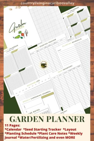 11 page vegetable garden planner printable showing each page