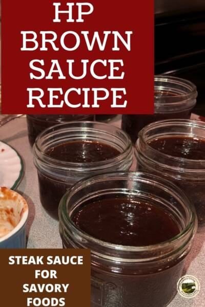 HP Brown Sauce in small jars