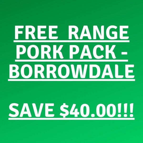 Borrowdale free range bulk pork pack