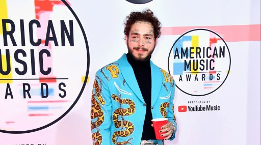 Post Malone rocks a custom Union Western Clothing suit, designed by veteran western-wear tailor Jerry Atwood, which is often miscredited as being a Nudie Suit