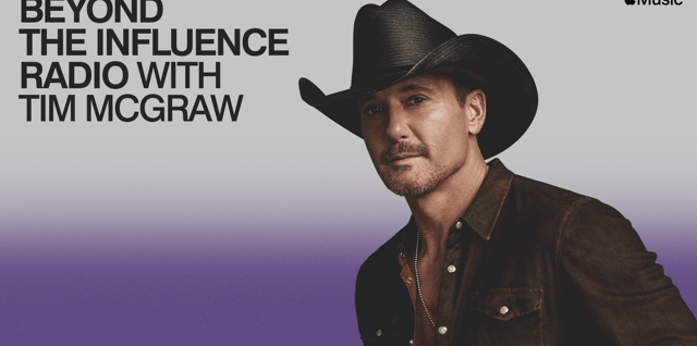 Tim McGraw Debuts Apple Music Country show 'Beyond The Influence Radio