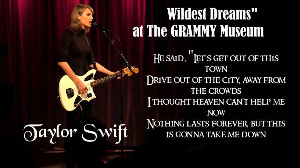"""Taylor Performs """"Wildest Dreams"""" at The GRAMMY Museum"""