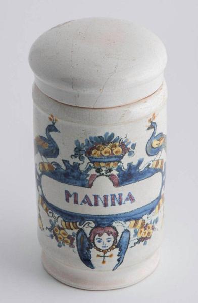 Deft drug jar with lid Front