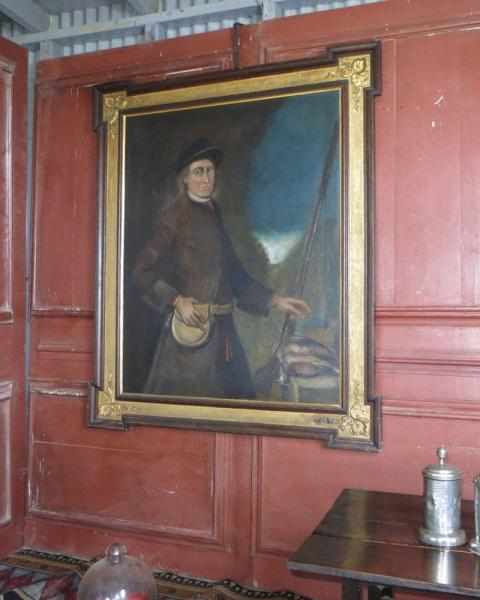 Large oil on canvas portrait England, c. 1800 With Frame