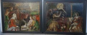 Pair of early panel paintings Continental, c. 1500 With Frames
