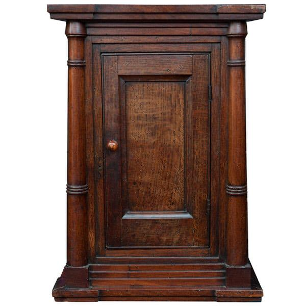 Wall Hanging Cupboard, 18th century Front Closed