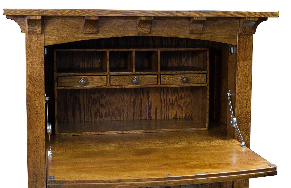 Wayland Solid Wood Secretary Desk