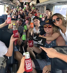 A busload of NYCountry Swag Fans Head to Luke Bryan + Sam Hunt at MetLife Stadium