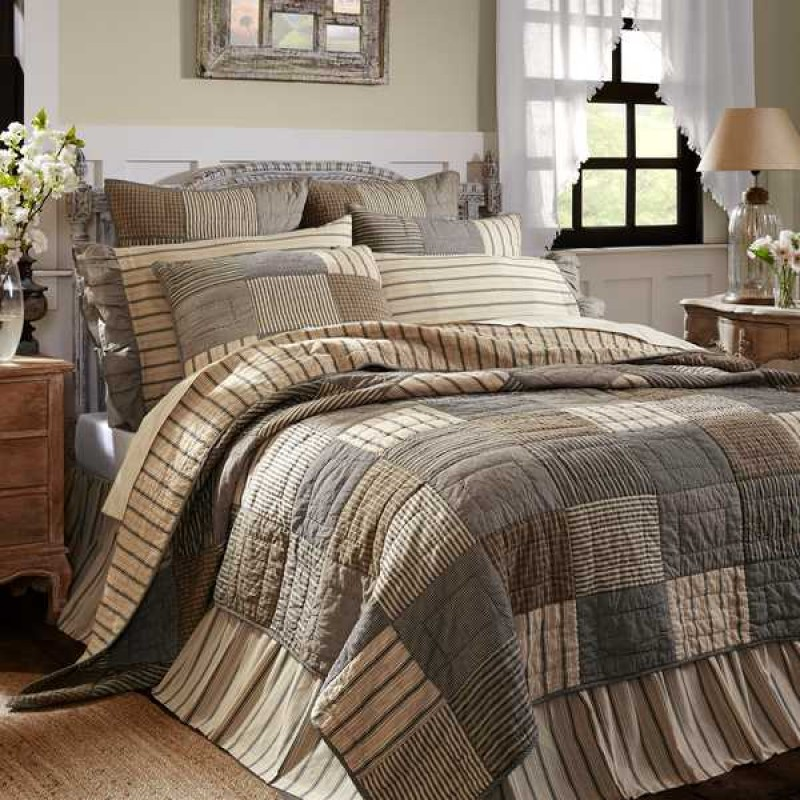 sawyer mill quilt charcoal california king