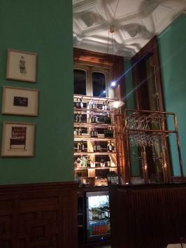 The restaurant bar at eynsham hall hotel