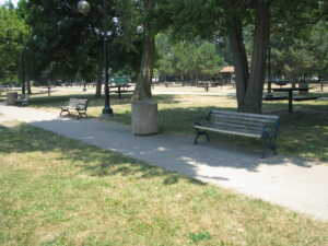 image of euclid beach bench