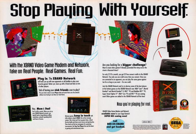 Ad for the X-Band modem
