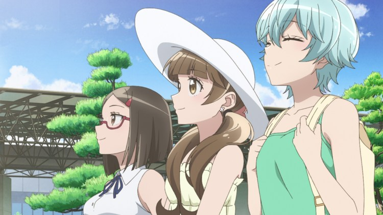 The three protagonists of After School Dice Club - Midori, Aya, and Miki.