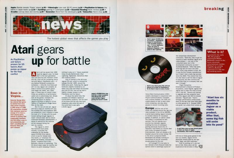 NG's coverage of the Jaguar CD