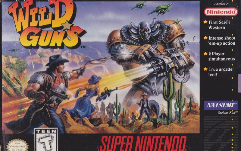 Wild Guns SNES Box Art