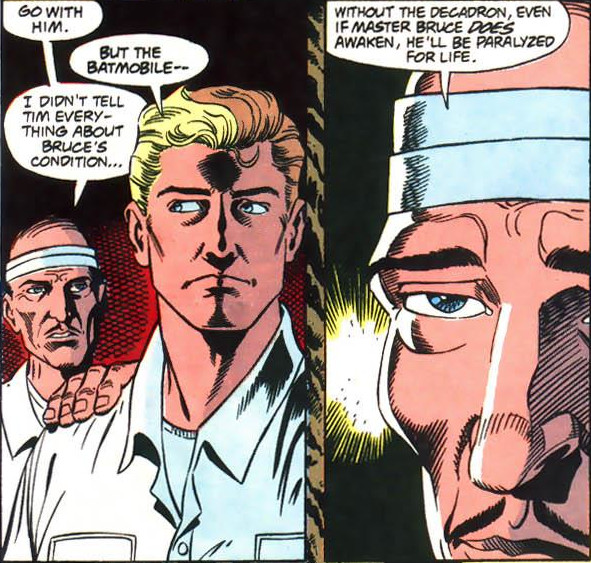 Alfred warns Jean-Paul what will happen without the Decadron.