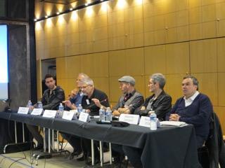 Alignement des écrivains autour de Yves Chemla (Algérie en bulle)