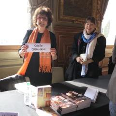 Cécile Ouhmani en signature
