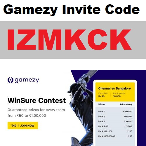 Download APK Gamezy Invite Code Free ₹150 Refer and Earn