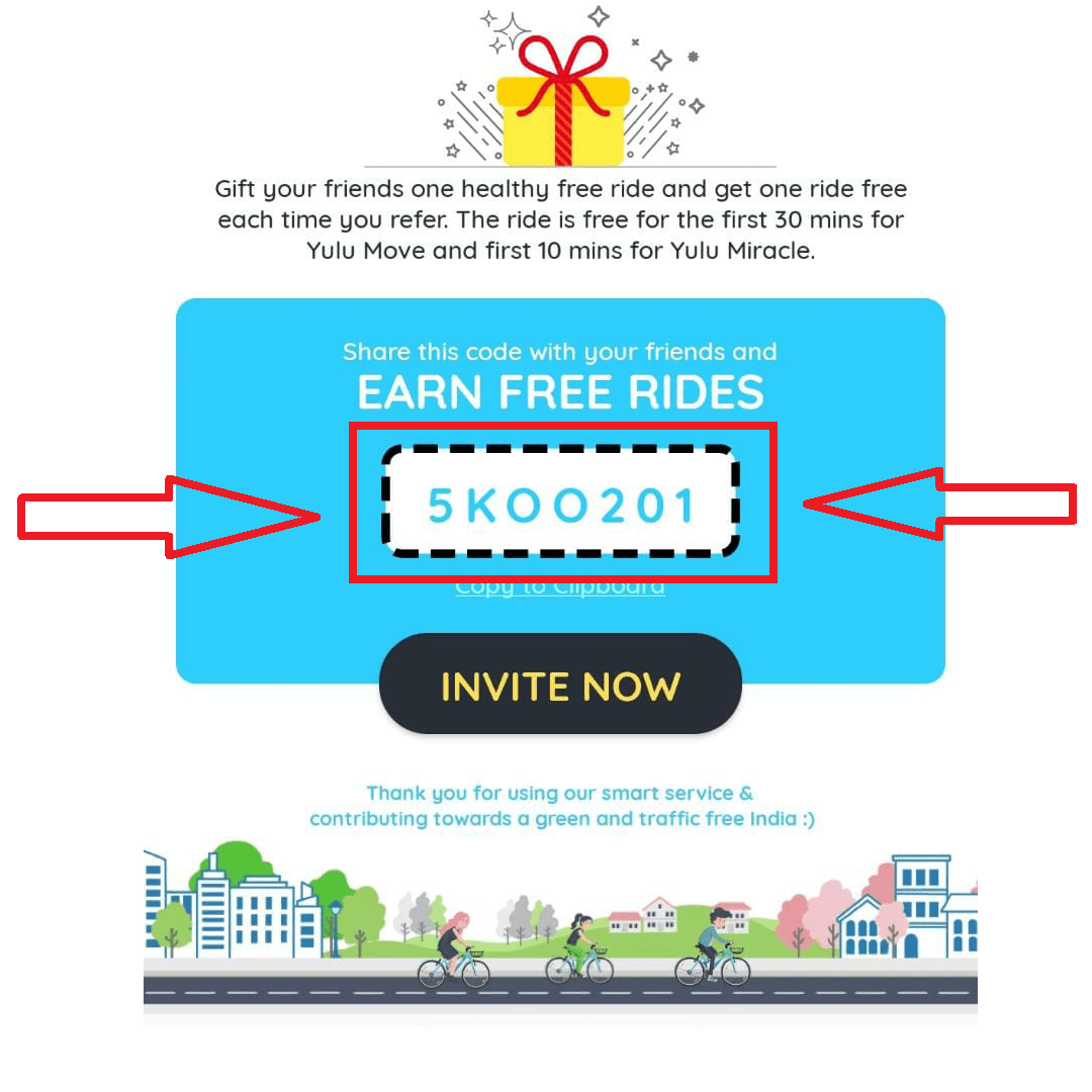Yulu Referral Code to Get Free Cycle Ride for 30 Minutes + Refer & Earn