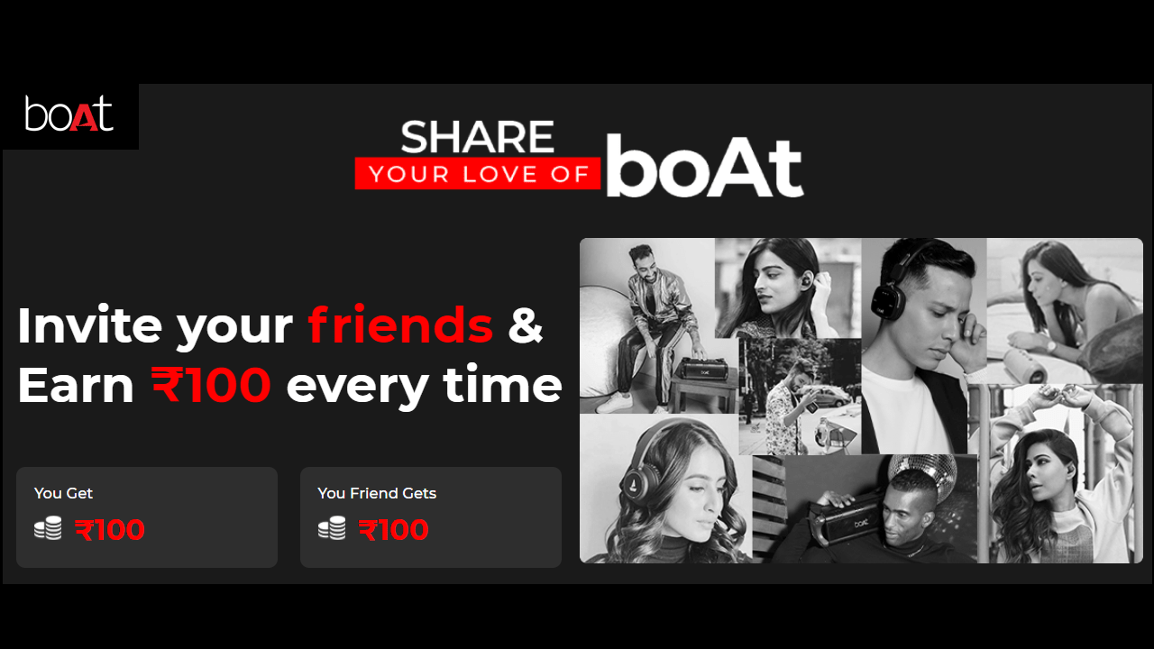 Download APK Boat Referral Code Earn Free Rs 100 + Refer & Earn