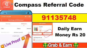 Download APK Compass Referral Code Free ₹10 in Your Bank with Proof