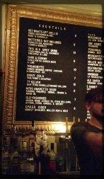 Gib's cocktail menu, late January 2017.