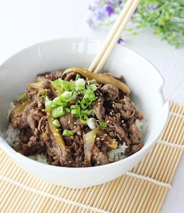 Japanese Beef Bowl (Gyudon) Recipe