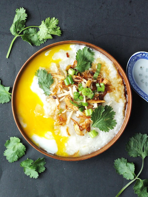 Chicken Rice Porridge (Congee) Recipe