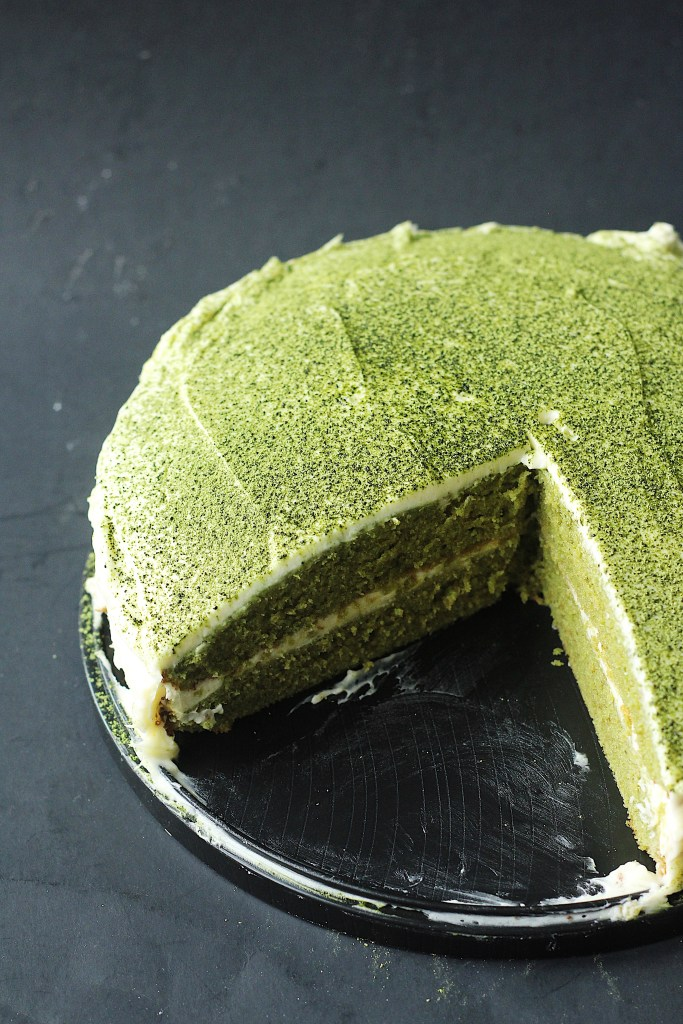 Green Tea (Matcha) Cake with White Chocolate Frosting Recipe