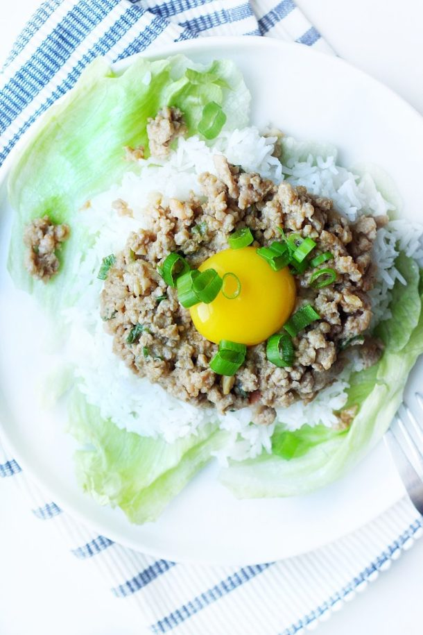 20-Minute Asian Pork and Rice Plate
