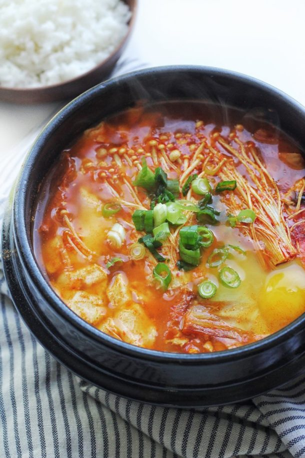Spicy Korean Silken Soft Tofu Stew Recipe