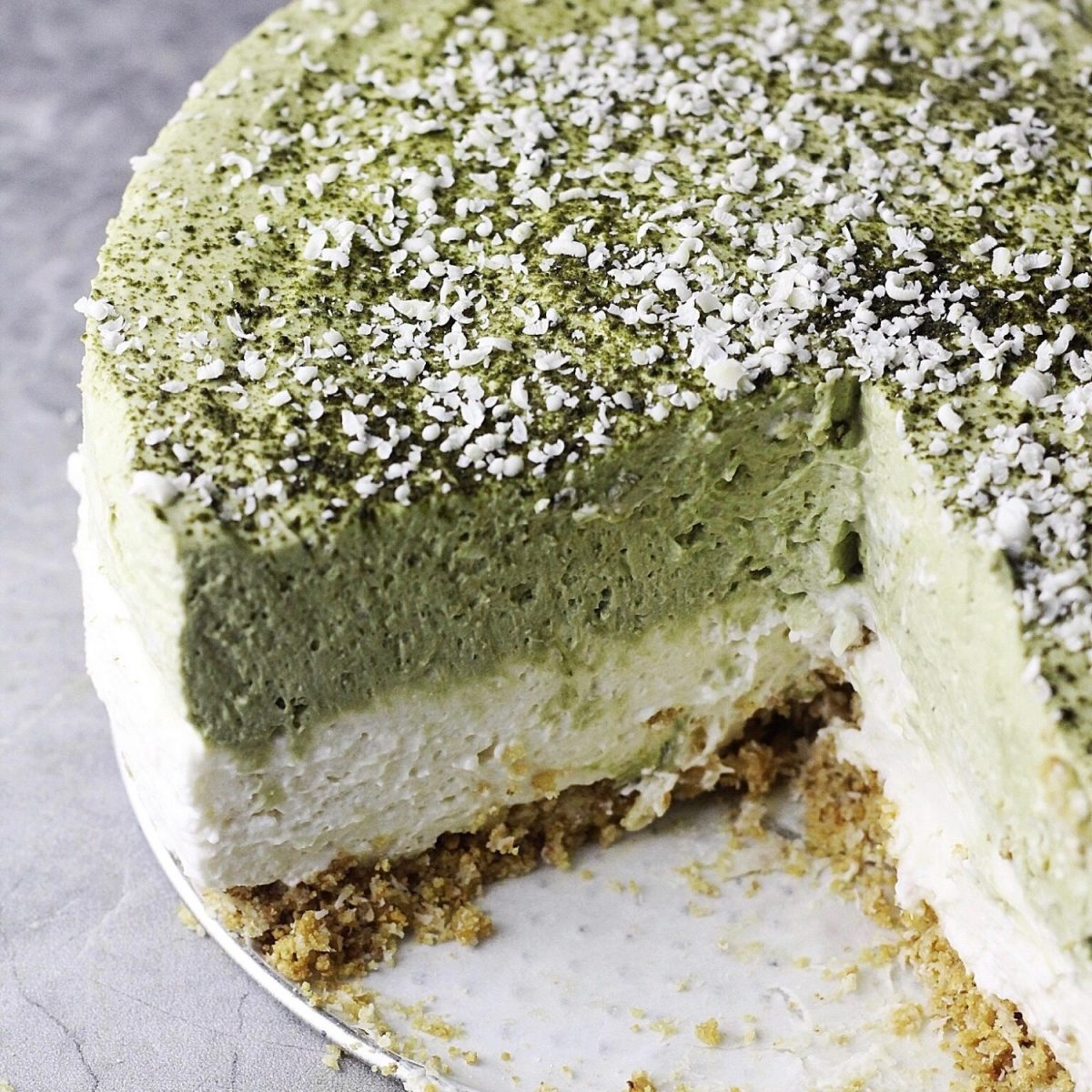 No-Bake Matcha (Green Tea) Cheesecake