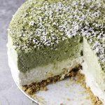 No-Bake Matcha Cheesecake