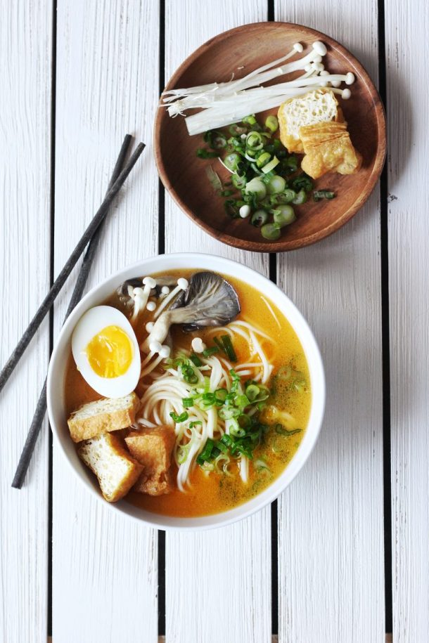 Easy Spicy Ramen with Creamy Sesame Broth