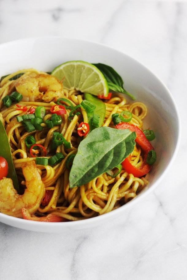 Tom Yum Fried Ramen Noodles